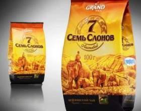 """Чай """"семь слонов"""" и другая продукция чайной компании """"гранд"""" (""""grand"""") фото"""