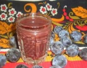 Домашняя сливовая настойка на водке фото
