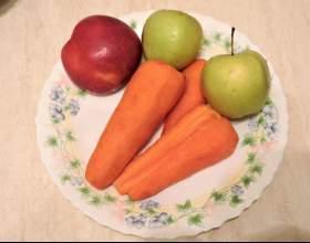 Как приготовить морковно яблочный сок в соковыжималке? фото