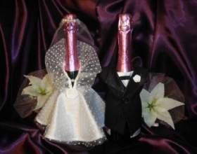 Как украсить бутылку шампанского в день рождения или на свадьбу фото
