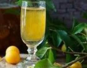 Классическая настойка из алычи на водке (самогоне, спирте) фото