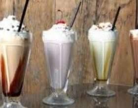 Коктейли молочные с мороженым фото