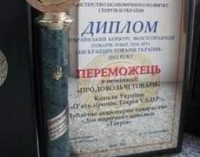 Коньяк украины «таврия vsop» – победитель всеукраинского... фото