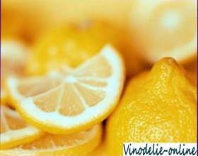 Лимонная наливка фото