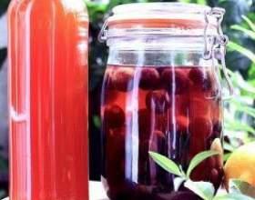 Настойка на спирту из ягод вишни фото