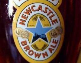 Пиво newcastle brown ale — классический британский эль фото