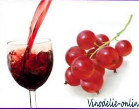 Приготовление вин из красной смородины фото