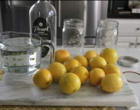 Рецепт домашней лимонной водки фото