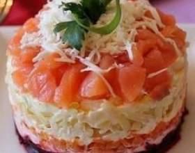 Рецепт салата из слабосолёной сёмги фото