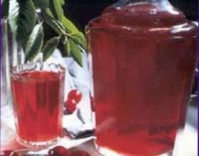 Сладкое вишневое вино фото
