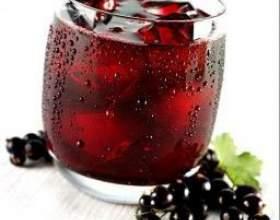 Сок из черной смородины фото