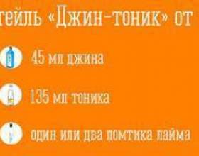 """Состав и рецепт коктейля «джин-тоник» С""""РѕС'Рѕ"""