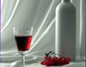 Вино из красной рябины фото