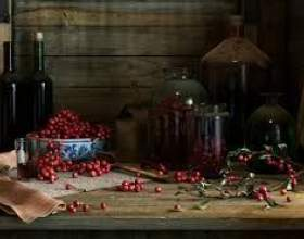 Вино из брусники фото